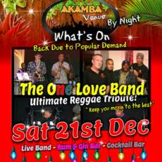 The One Love Band at Akamba on 21 Dec 2019